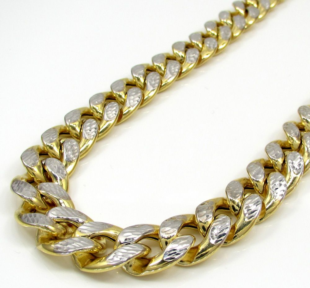Shop for real 10K gold Miami link chains and necklaces available