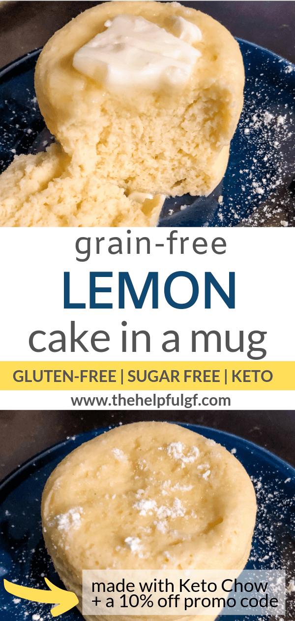 Grain Free Lemon Mug Cake for One | Recipe (With images ...