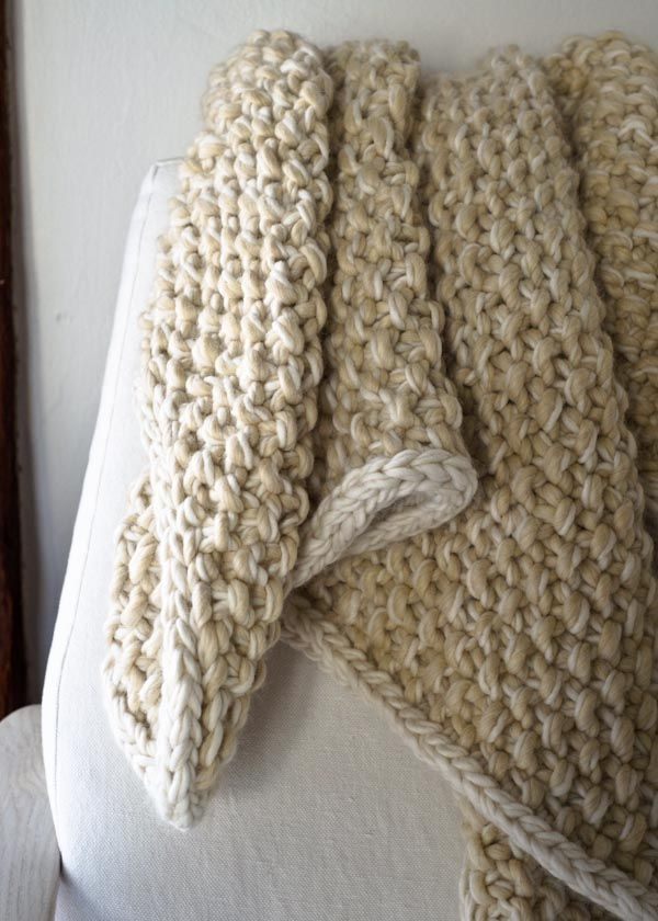 Eleventh Hour Marled Blanket Free Knit Pattern A Us 36 40 Inch