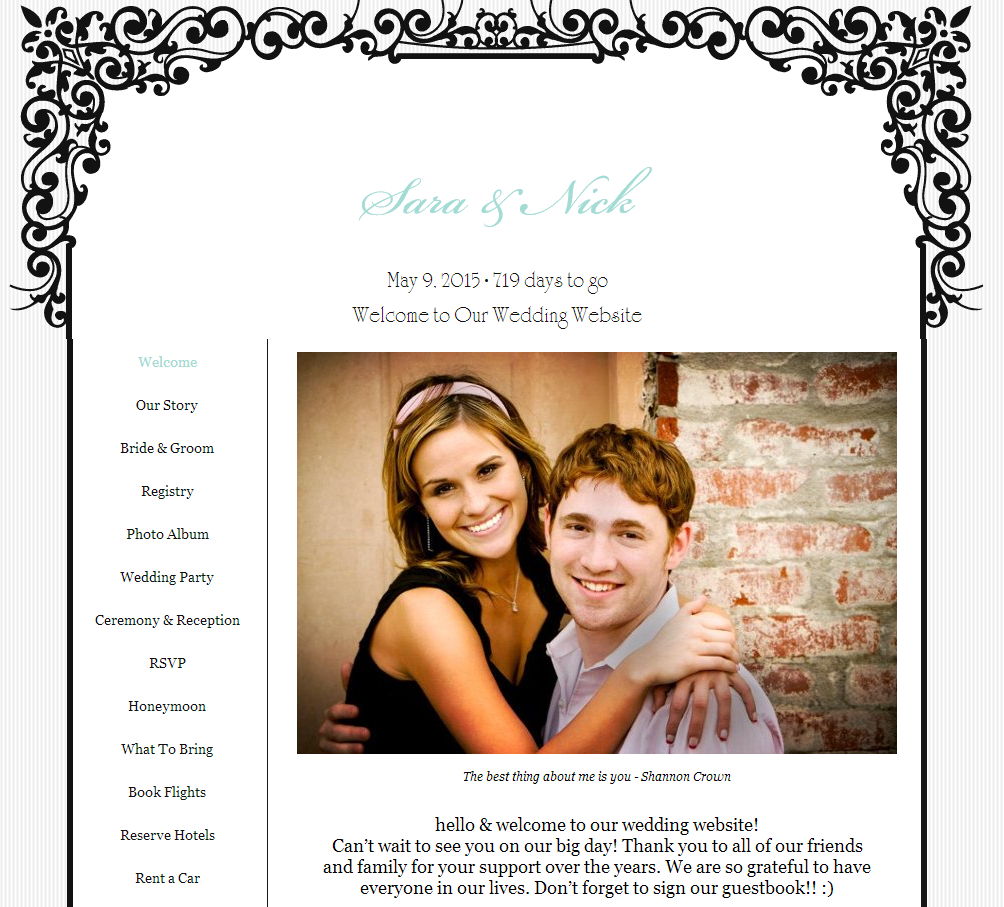 757a34f72c2 Wedding Invitations with Matching Wedding Websites