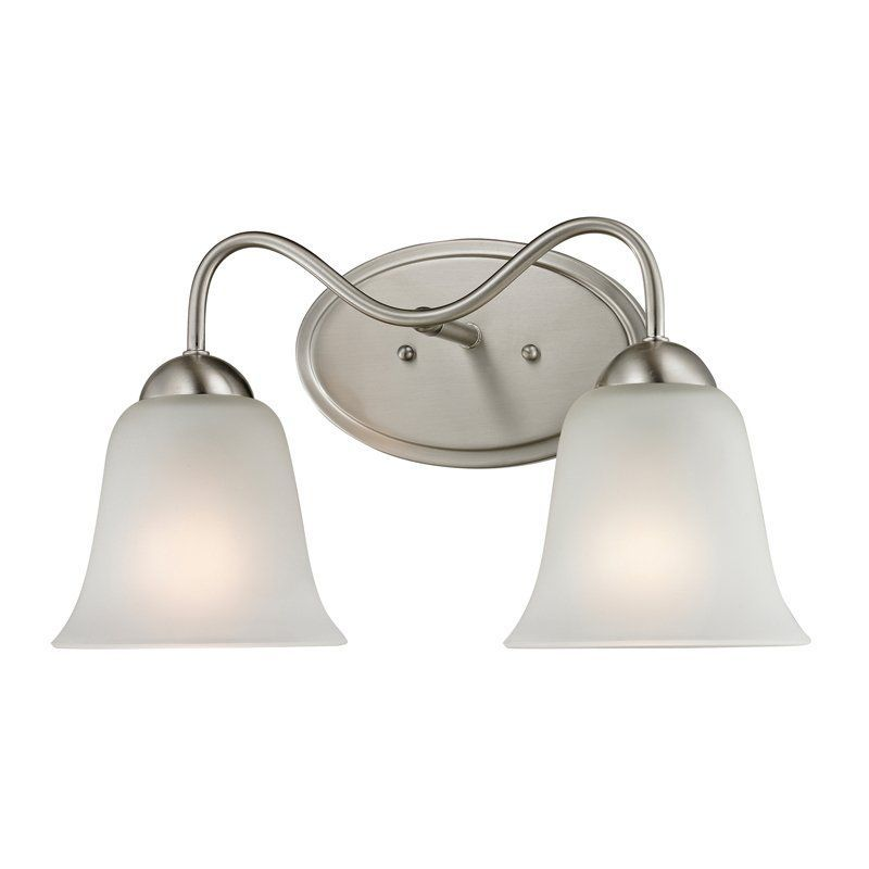 $58 View The Cornerstone Lighting 1202BB Conway 2 Light Bathroom Vanity  Light With Frosted Glass Shades