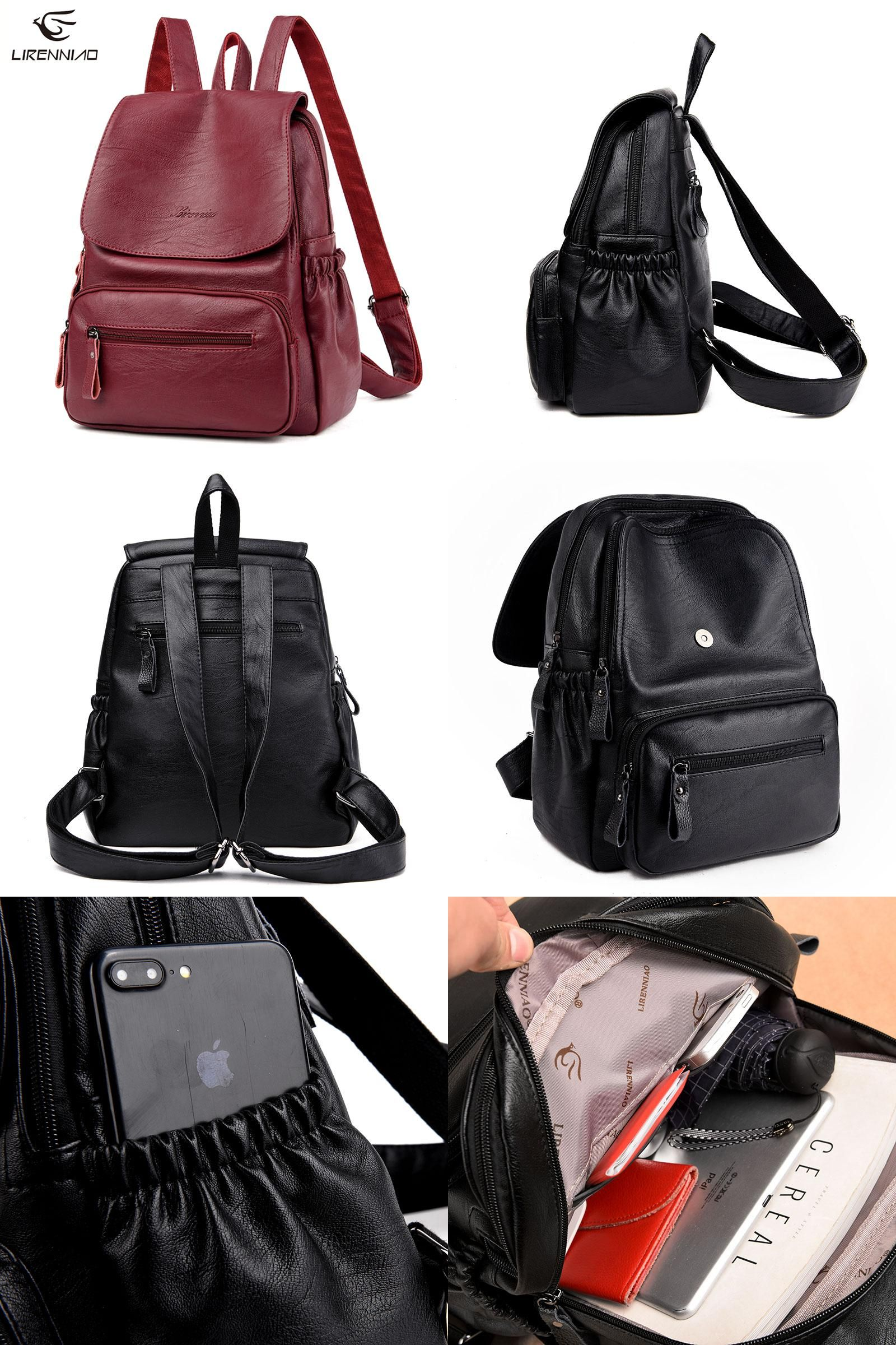 Visit to Buy] High Quality 2017 New Fashion Leather Backpack ...