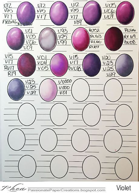 Passionate Paper Creations: Copic Color Combo Sheets | Copic