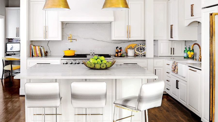 Glamorized White Kitchen   Enjoy The Simple Elegance Of These Beautifully  Decorated Kitchens. The Term