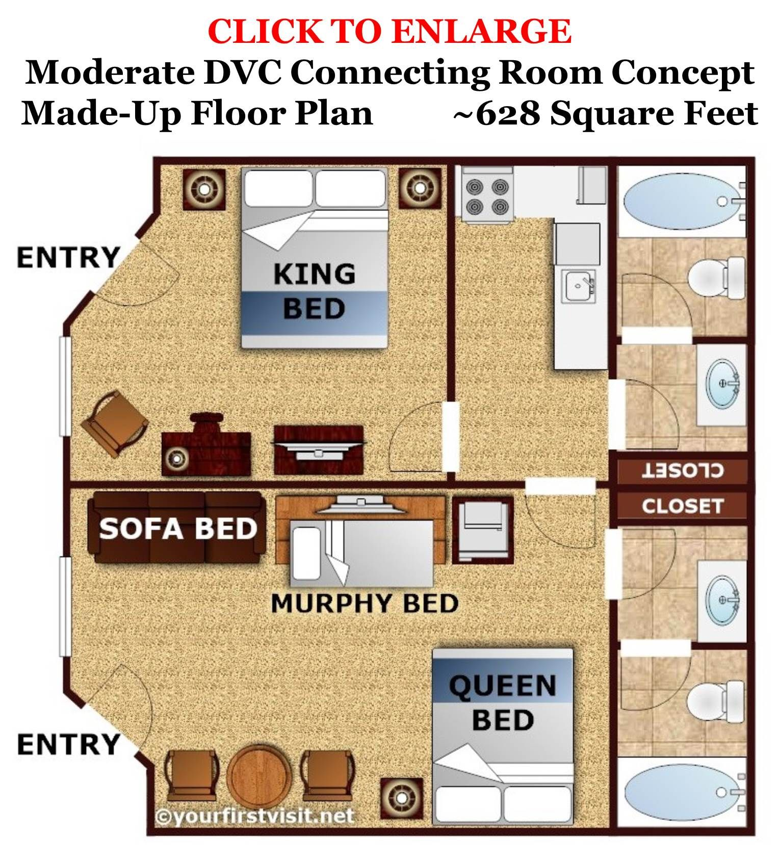 Review disney 39 s caribbean beach resort vacation club for Vacation floor plans
