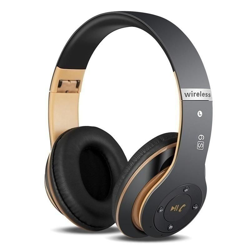 7cd88ee30fc S6 Bluetooth Headphones Wireless Bluetooth 4.0 Heavy Bass Stereo Folding  Auriculares with Mic Support TF SD Card The Best Chris