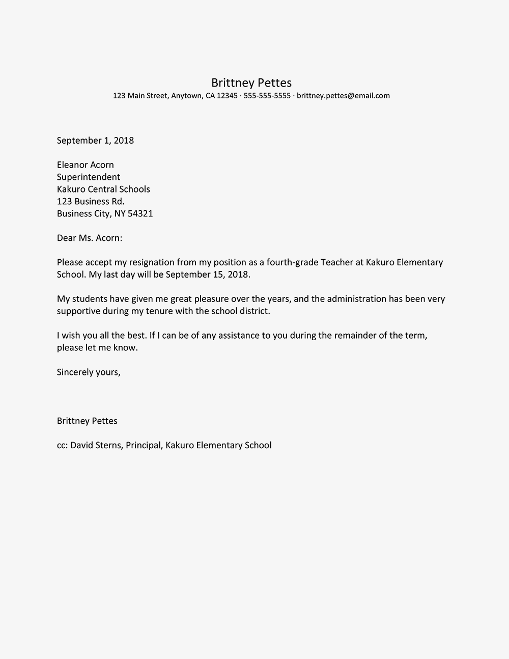 Image Result For Teacher Resignation Letter Resignation Letter Sample Resignation Letter Teacher Resignation Letter