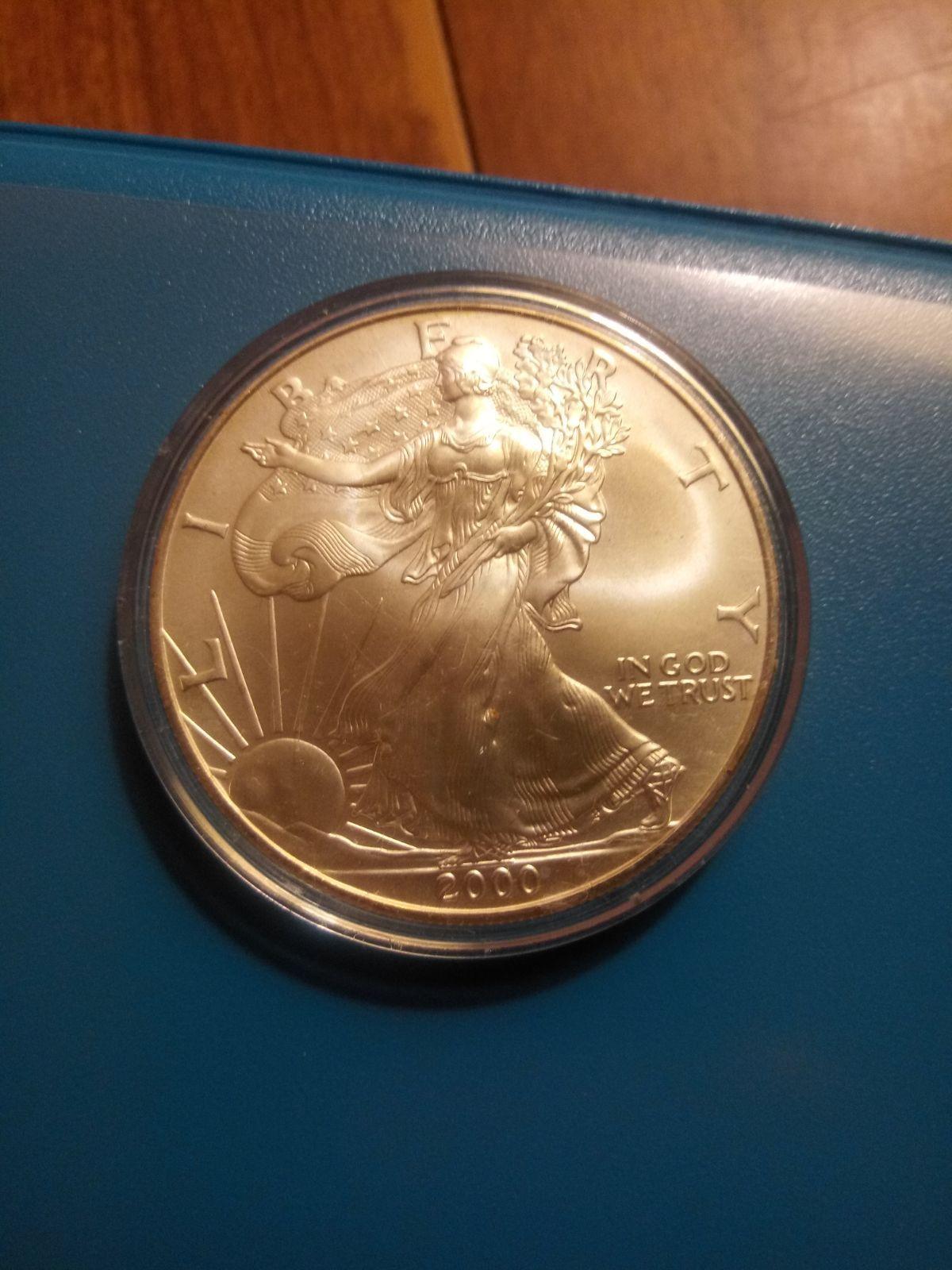 2000 Walking Liberty Uncirculated Silver Dollar No Mint Mark Amazing Condition 2005 Indian Head Buffalo Nickle Copy Silver Silver Coins Silver Silver Dollar
