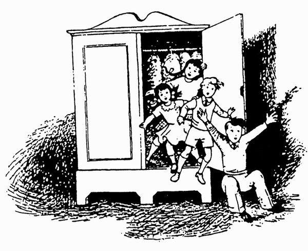 Children In The Wardrobe Illustration By Pauline Baynes Narnia Illustration Artwork