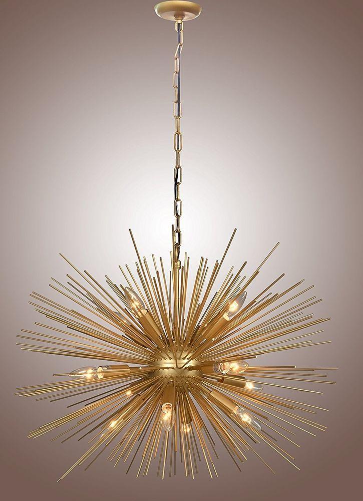Decomust 30 inch astra sputnik satellite pendant light chandelier decomust 30 inch astra sputnik satellite pendant light chandelier gold mozeypictures Gallery