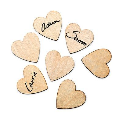 Small Wooden Craft Hearts Wedding Guest Book Alternative Diy Wooden Crafts Wedding Guest Book Alternatives