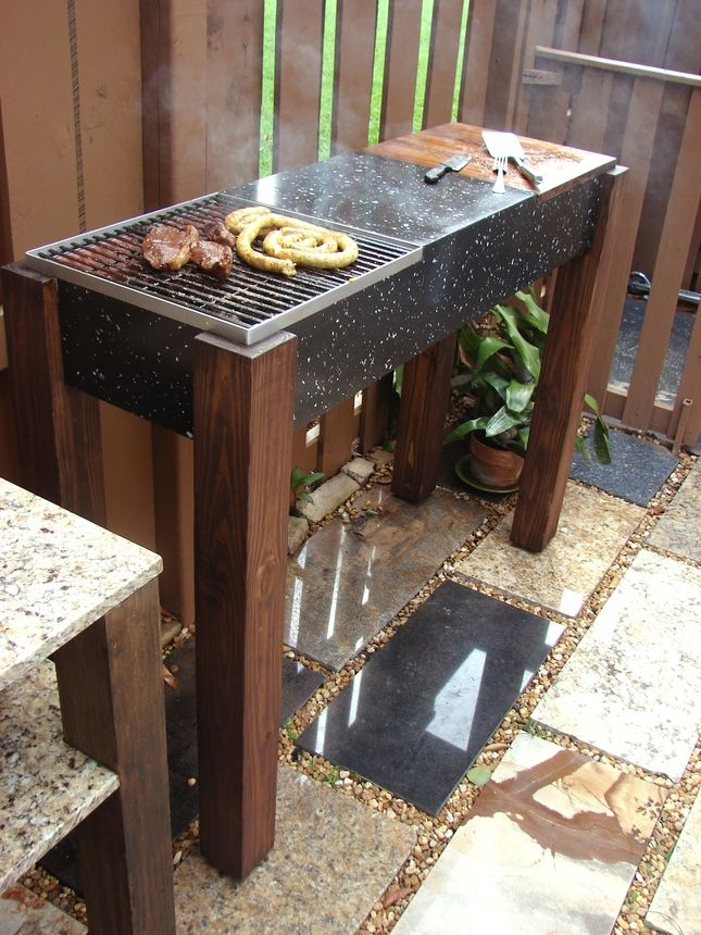 Diy modern granite grill cool products pinterest for Modern barbecue grill