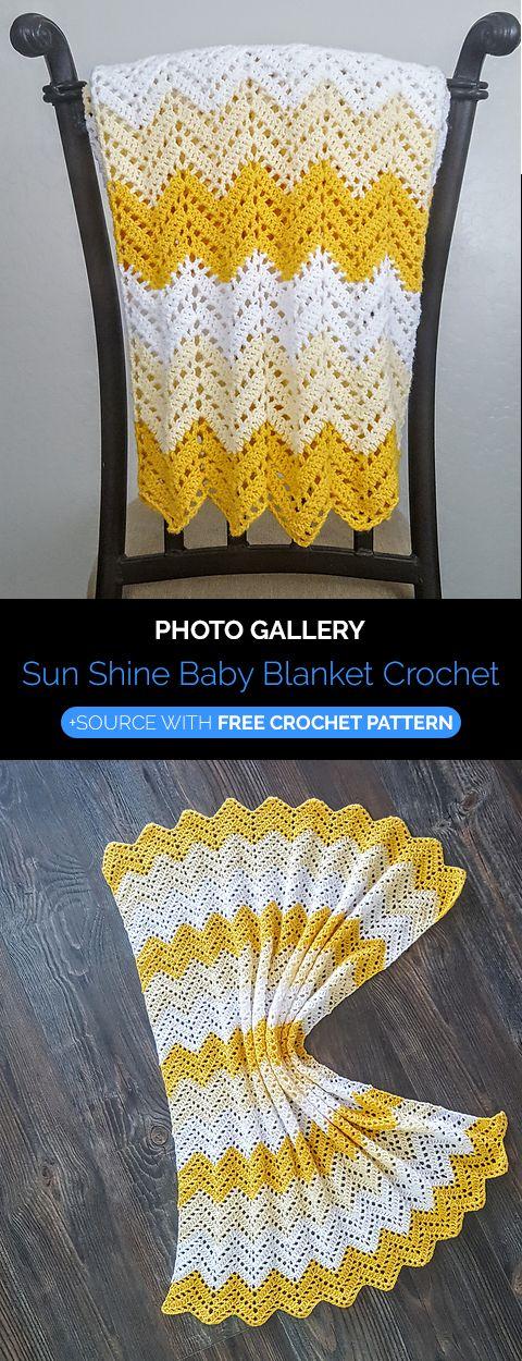 Sun Shine Baby Blanket Crochet | Knit and crochet | Pinterest
