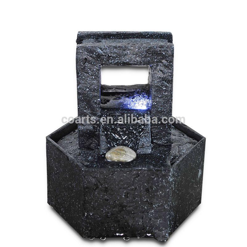 Indoor Battery Powered Tabletop Stone Effect Water Feature Fountain Waterfall Water Features Fountain Water Fountain