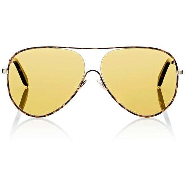 9a23fba40 Victoria Beckham Women's Loop Aviator Sunglasses ($425) ❤ liked on Polyvore  featuring accessories, eyewear, sunglasses, victoria beckham sunglasses, ...