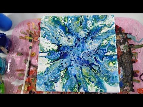 Just Blowin The Blues Acrylicpouring Com Peinture Acrylique