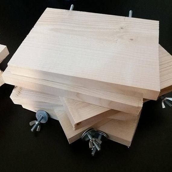 5 X Wood Shelves (ledges) For Chinchilla, Degu, Rabbit
