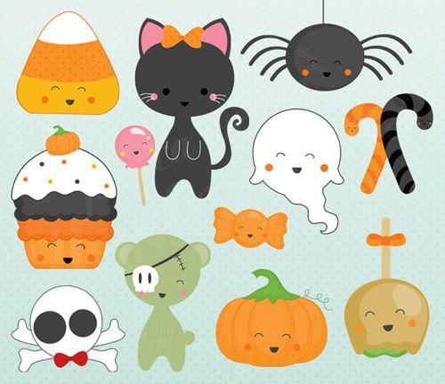 cute halloween clipart - Google Search | Kawaii halloween ...