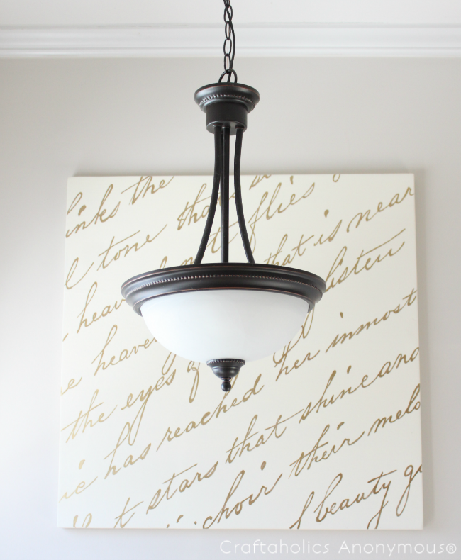 DIY Metallic Script Wall Art | Cuadro, Cosas lindas y Marcos