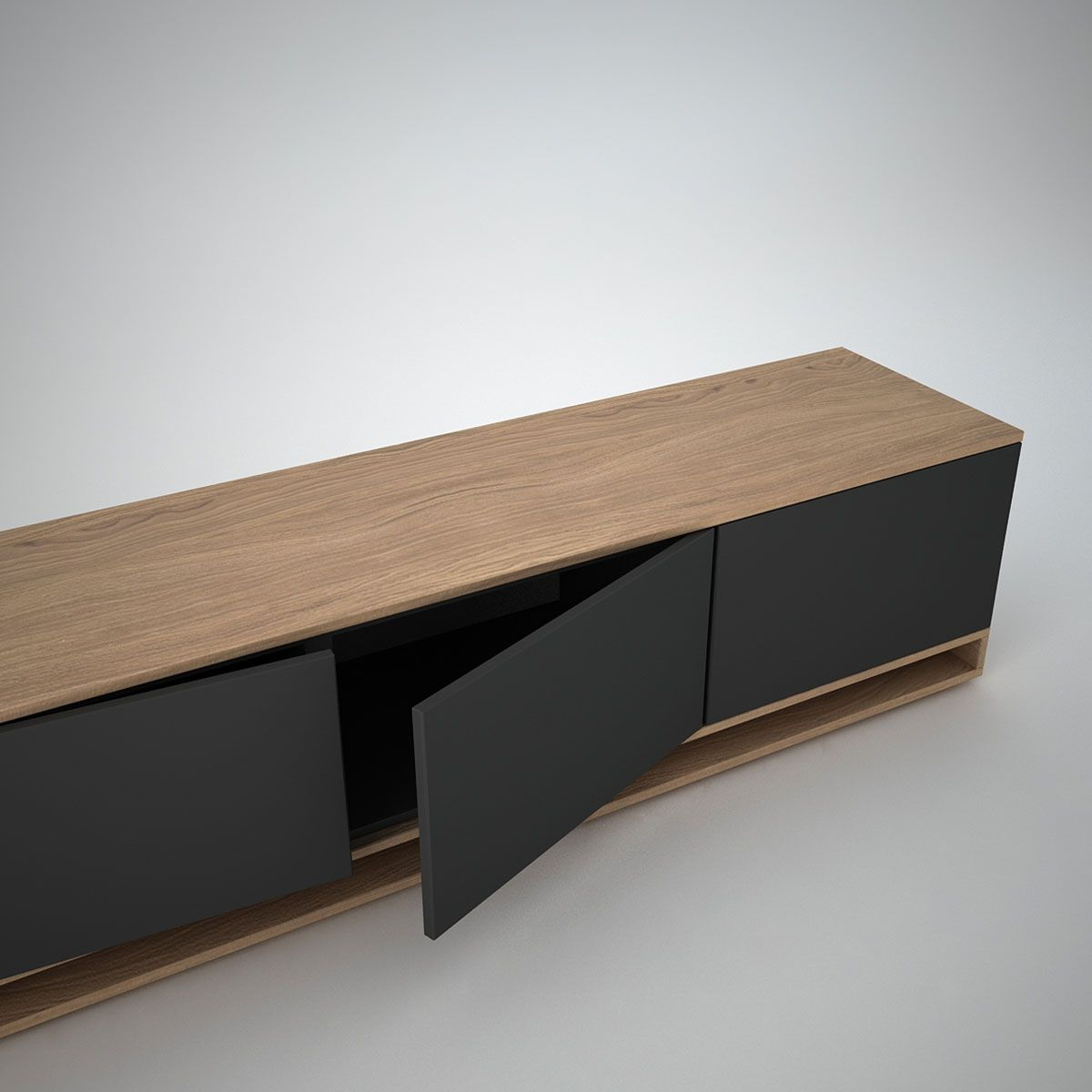 Harlem Low Sideboard 3 Anthracite Join Furniture Projects To