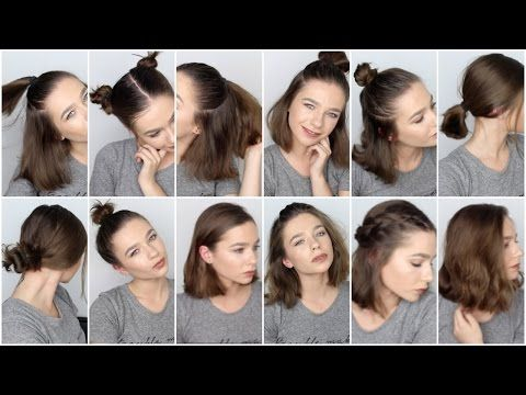 12 Easy Hairstyles For Short Hair Youtube Short Hair Styles Easy Easy Hairstyles Short Hair Styles