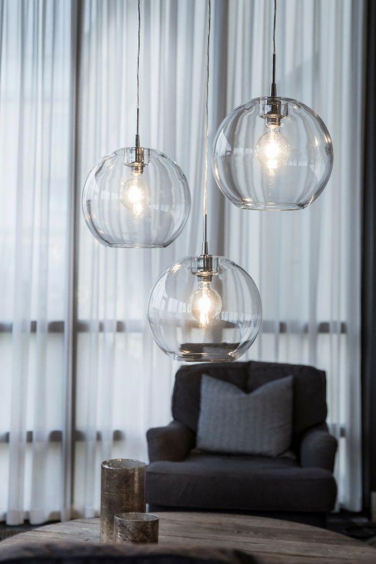 Kugel-Pendelleuchte 1-flammig Gloria aus Glas im Retro-Design