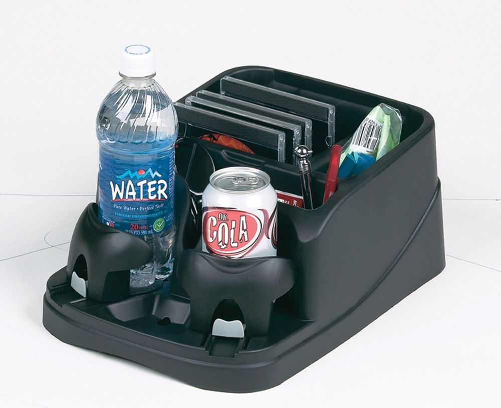Auto Center Console Cup Holder Storage Organizer New Rv Car Van Black Accessory GoGear
