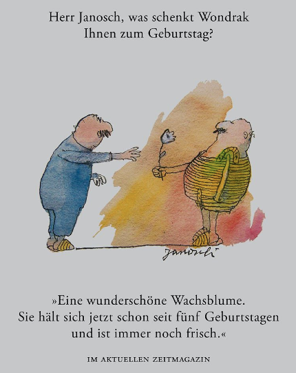 Herr Janosch Was Schenkt Wondrak Ihnen Zum Geburtstag