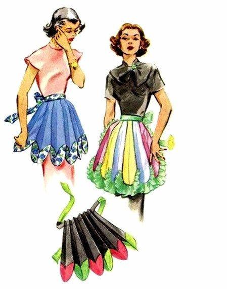 Flower Petal Aprons Pattern 1950s McCalls 1691 by patternshop, $37.99