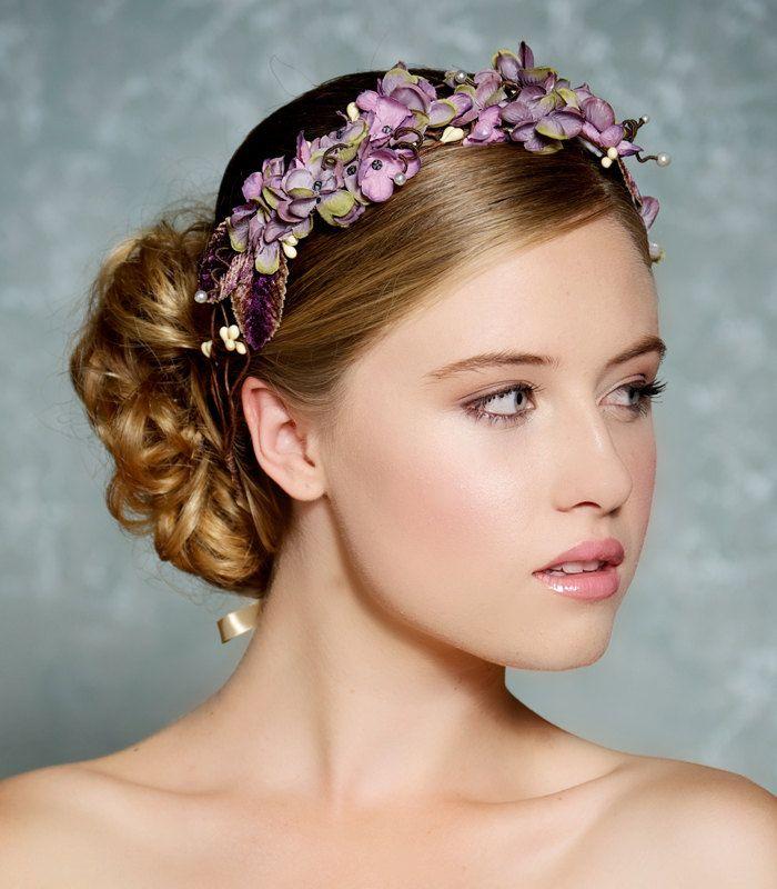 Lavender Flower Hair Wedding Style