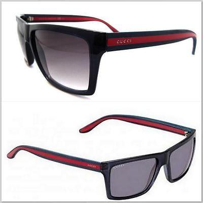 d8a7c01a6 Gucci Men Square Sunglasses GG 1013/S 549 56BD Dark Blue Gray Black Red 56  MM
