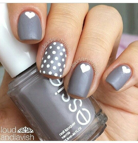 Elegant gray in your nails~