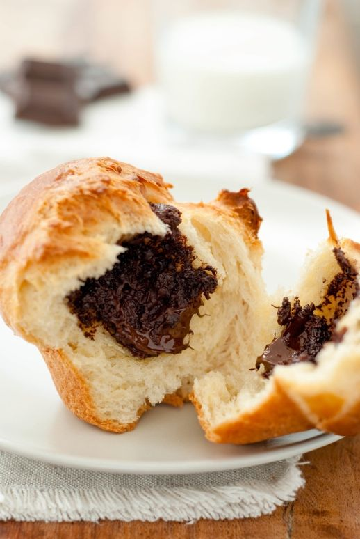 Brioche is good but add chocolate, and it graduates to manna from heaven.