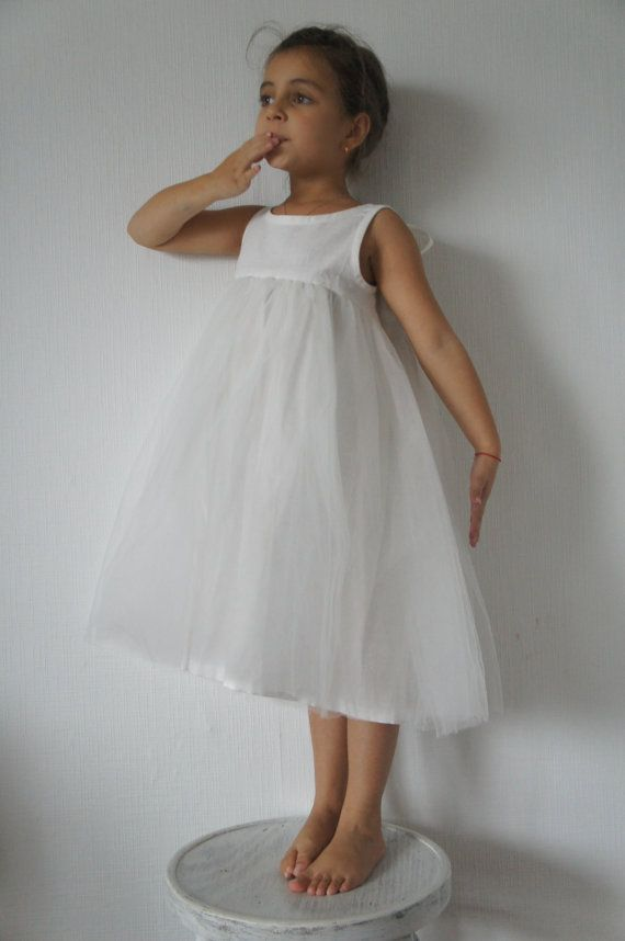 Blumenmädchen Kleid Leinen Mädchen Kleid Vintage von emyandpears ...
