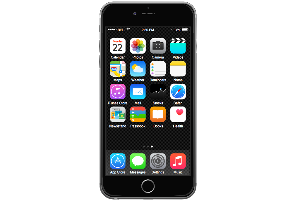 Iphone Template Png 264 466 1