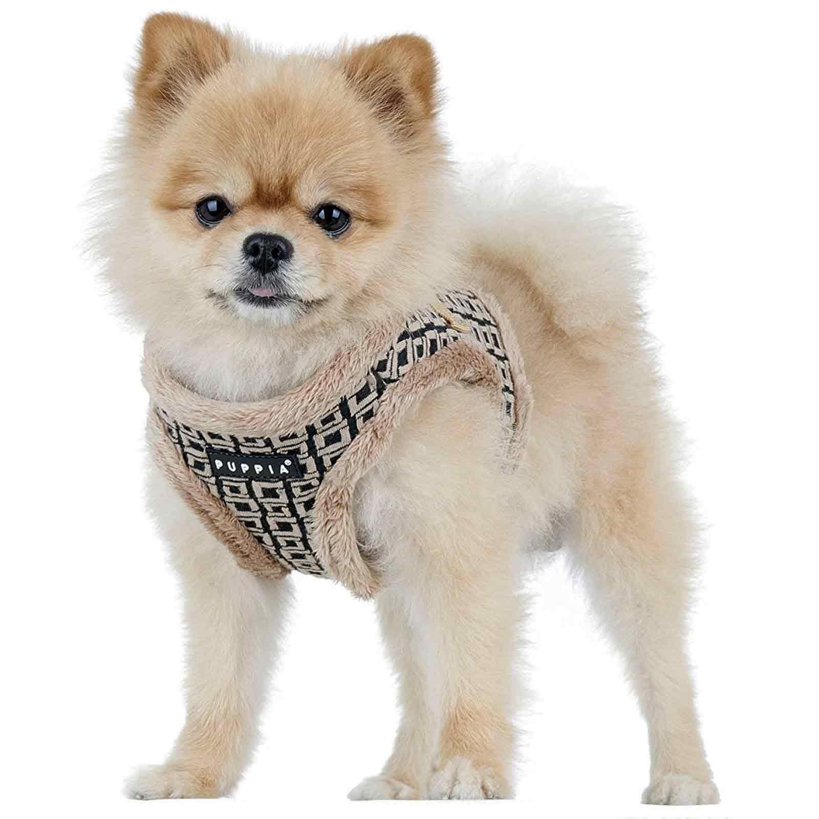 Puppia Damier Dog Harness B Vest Beige Dogs Puppia