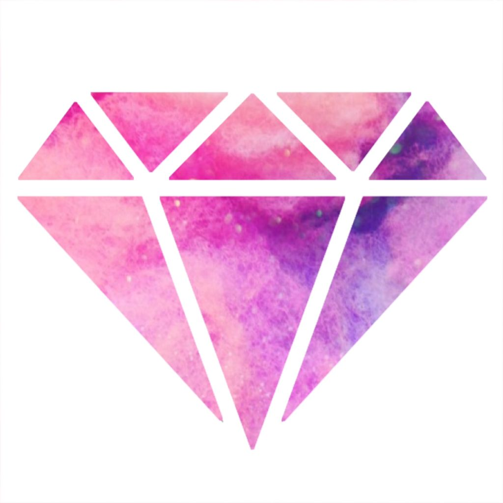 Pink Diamond Wallpaper: Made Another With A White Background! On We Heart It