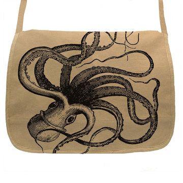 Giant Kraken Messenger Tan, $39, now featured on Fab.