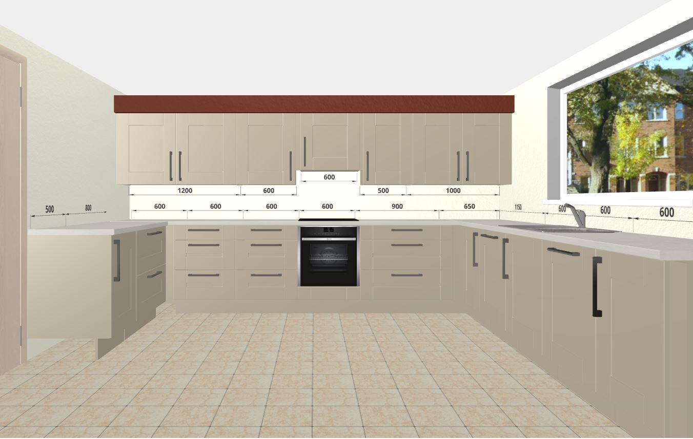 Cashmere Shaker Cabinets With Quartz Worktopsfree 3D Kitchen Simple 3D Design Kitchen Online Free Inspiration