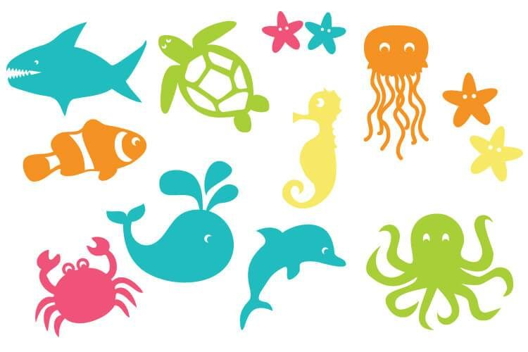 Under the Sea Cut Files + Clip Art - Freebie Friday!