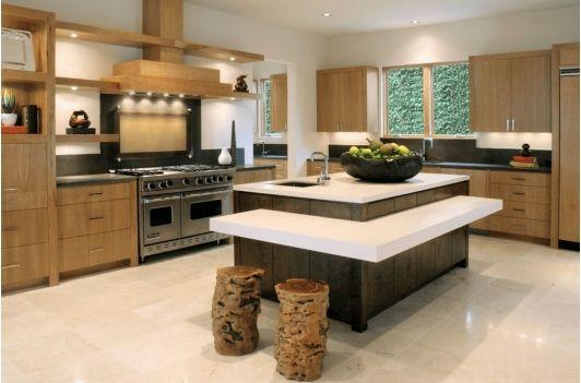 Amazing Kitchen With Layered Kitchen Island Kitchen Island Design Modern Kitchen Island Kitchen Layout