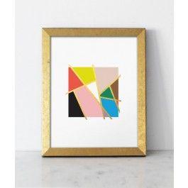 Mondrian Love Print, Gold Foil