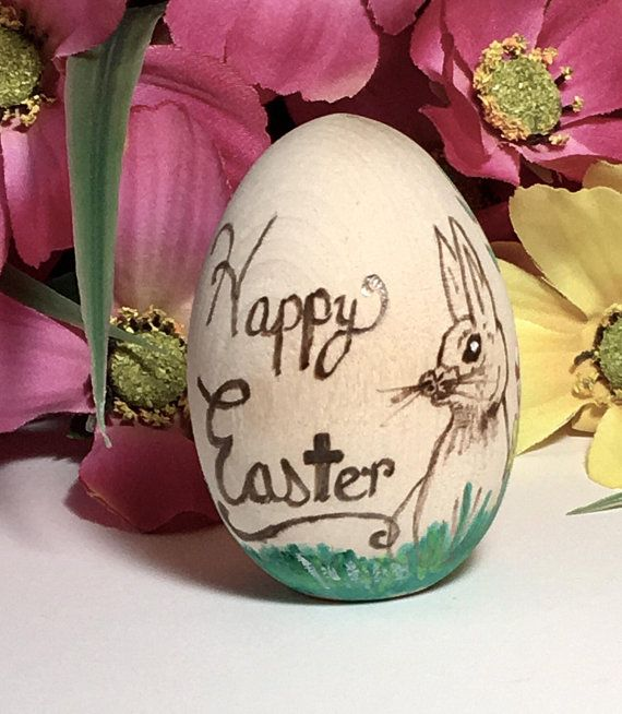 Wooden easter egg happy easter personalized easter easter gift wooden easter egg happy easter personalized easter easter gift for kids baptism negle Images