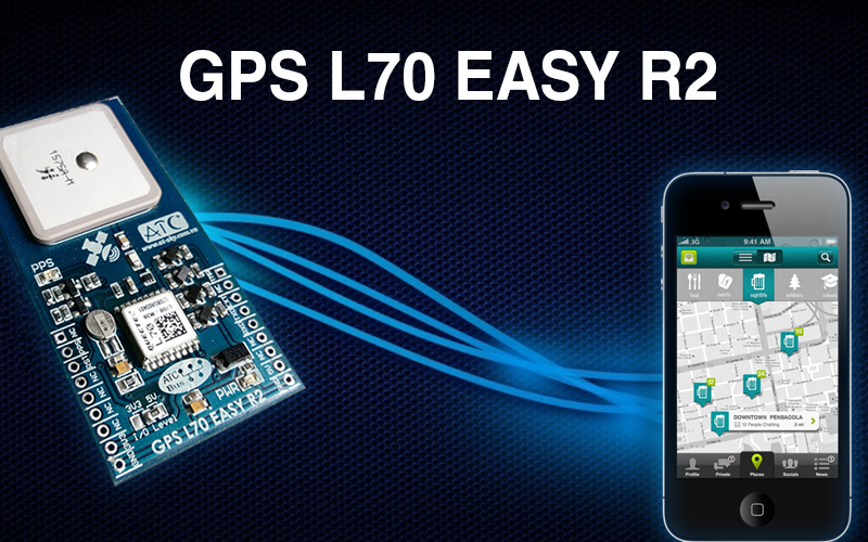 GPS L70 easy R2 developed based on module L70 of Quectel