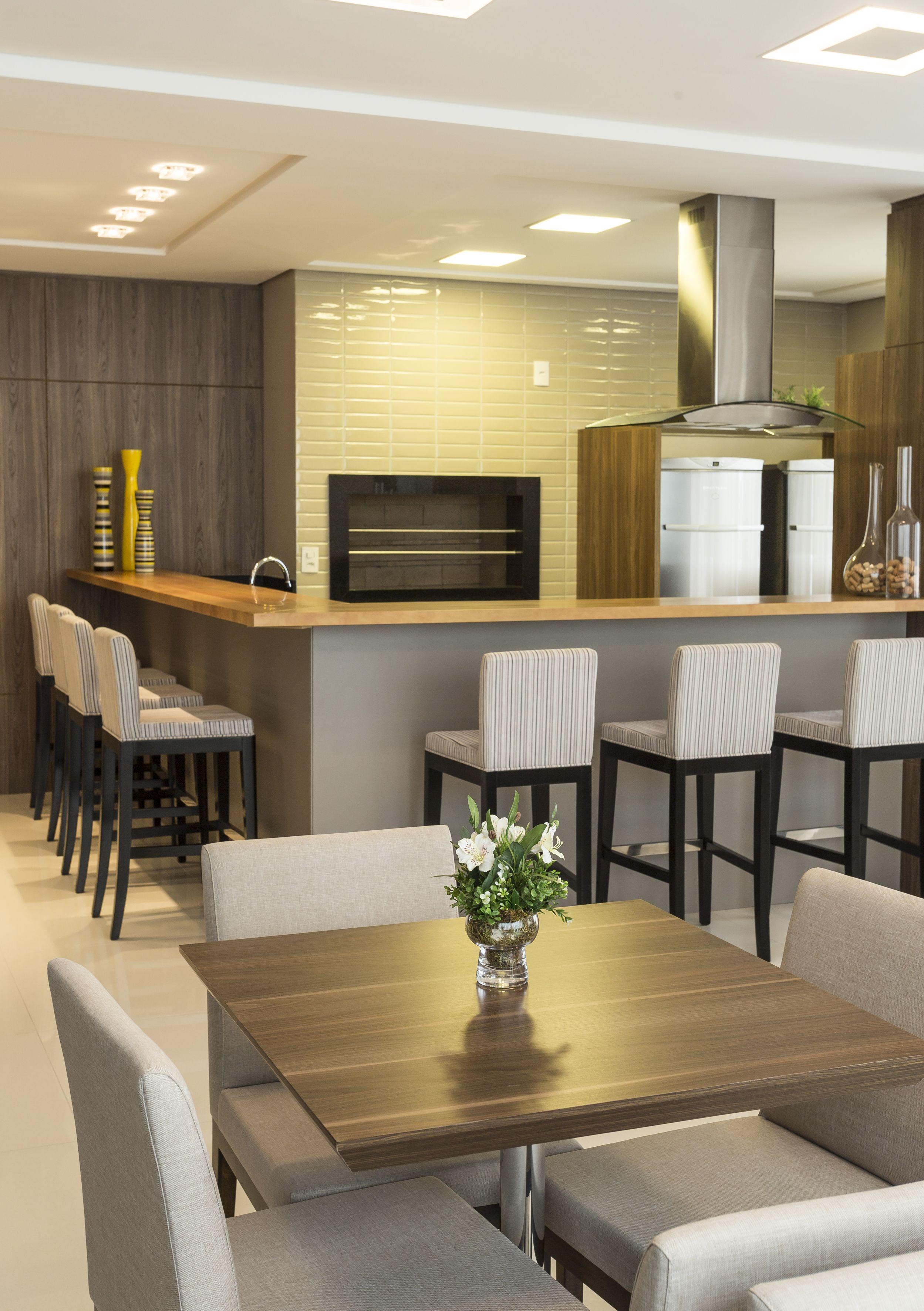 Espaço GourmetÁrea comum Condomínio Sal u00e3o de festas Projeto Ana Trevisan Arquitetura e  -> Decoração De Eventos Florianopolis