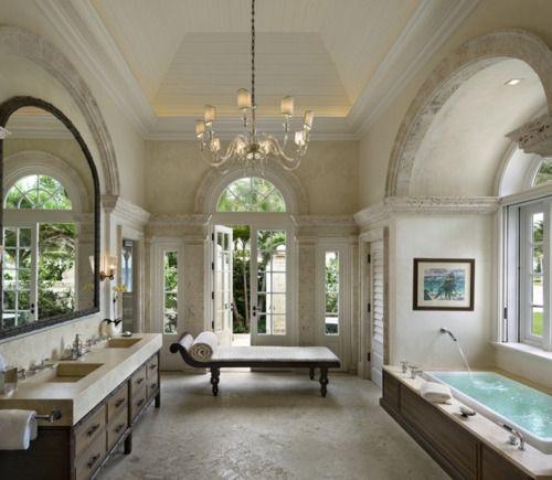 love the symmetry of the bathroom.