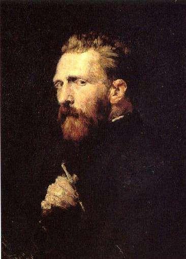 """Vincent van Gogh"",   by John Peter Russell, 1886.  Oil on canvas, Van Gogh Museum, Amsterdam."