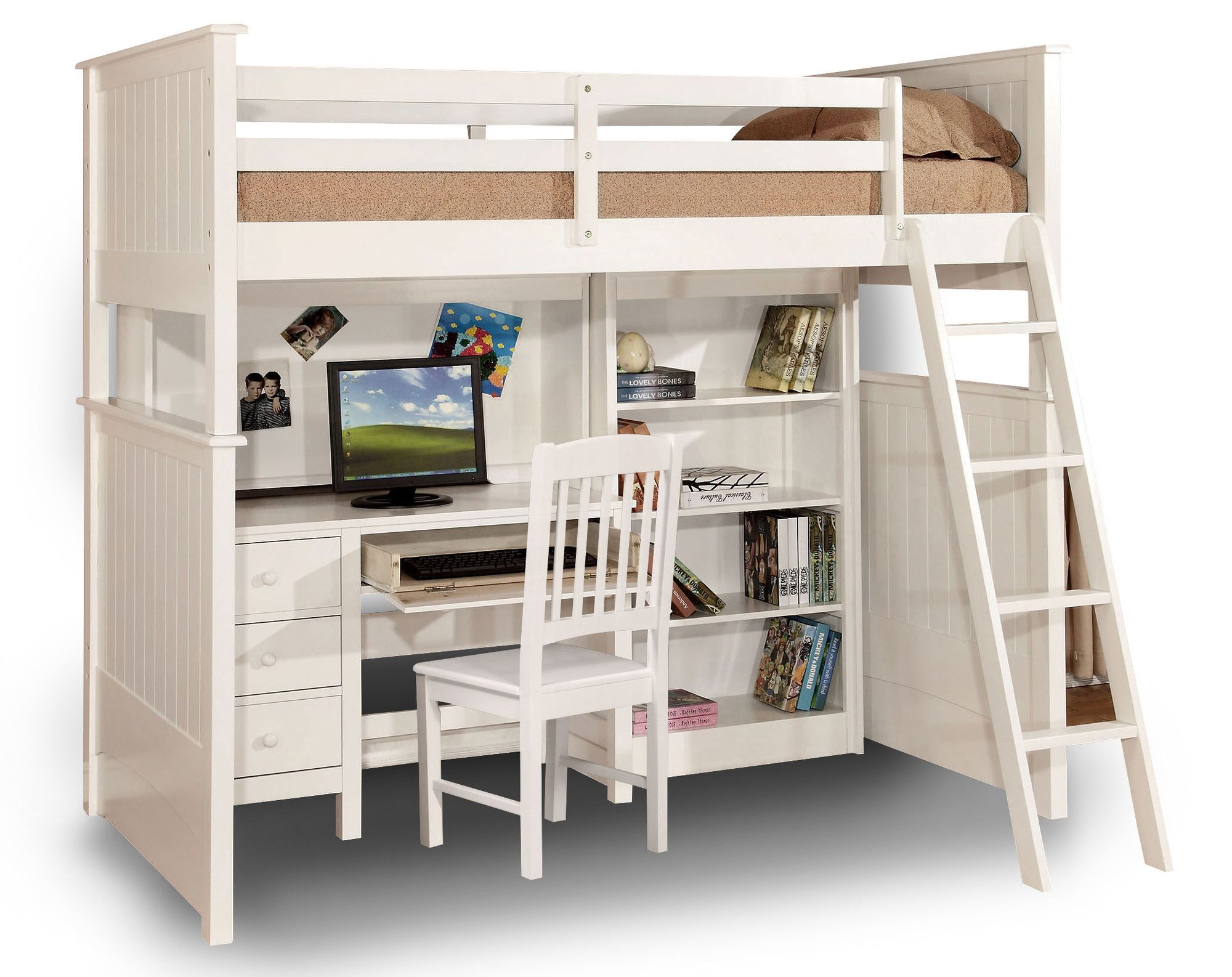 loft combo stairs bed kids underneath with desk and perfect for bunk side