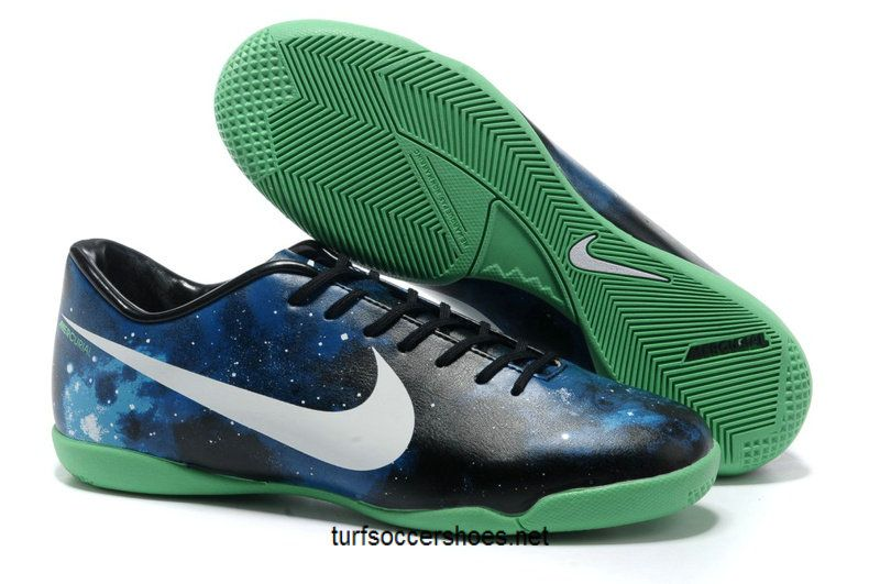 Nike Mercurial Vapor IX Limited Edition IC Boots - Black White Blue Green  Galaxy Soccer Shoes For Cheap