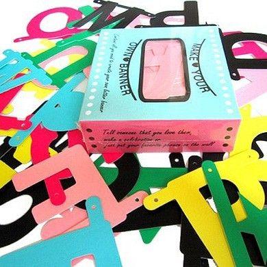 Make Your Own Letter Banner, incl 122 cardboard letters & symbols ...